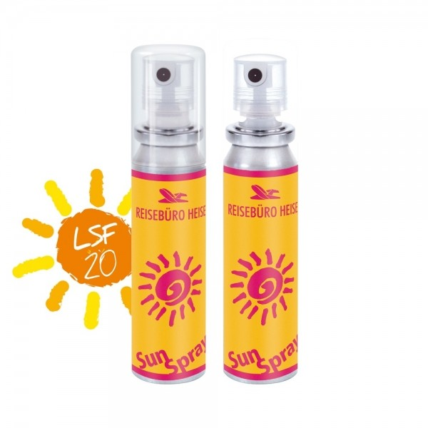20ml Sonnencreme Spray mit LSF20 Sonnenmilch Füllung