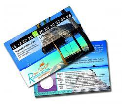 Urlaubskarte / Beach Check Karte / 4 Funktionen
